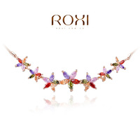ROXI necklace colorful Genuine Austrian Crystals rose gold plated necklaces for women birthday gift rhinestone 103055900-38