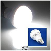 3 pcs/lot 7W E27 LED Sensor Lamp AC220-240V Pure White Sound&Light Control Bulb LEDQP091