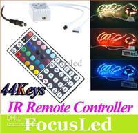 Wholesale - 12V 44 Keys IR Remote Controller for RGB LED Strip Light SMD 5050 3528 DIY Led Light Controller