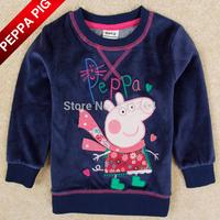 New Arrival Nova Kids Boys Peppa Pig Clothing Fashion Baby Boy Long Sleeve Shirt  Autumn Winter Tops Kids Costume Drop Shipping
