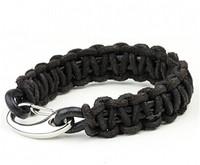 Fashion Charm Vintage Style Leather Braided Bracelet Men Punk Bracelets Bangles Brand   CDD2