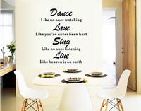 New vinyl wall sticker for kids rooms home decor decals adesivos de parede stickers Dance