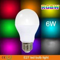LED Smart Bulb RGBW WIFI mi.light SERIES 2.4G RF transmission tech E27 6W LED Group Division Bulb 85~265V CE ROHS X 10PCS