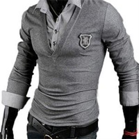 2014 Fashion Leisure Feel good Men's T-shirt Cotton premium Slim long sleeve Men Clothing