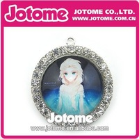 100pcs / Lot 40mm Fashion Various Wholesale New Style Hot Sale Frozen Rhinestone Pendant By DHL Free Shipping