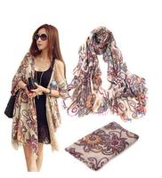 Hot-selling scarf bohemia vintage scarf silk scarf sun cape four seasons