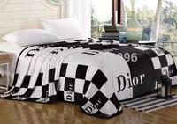 brand new super soft fleece blanket summer autumn Flannel blankets quilt for full double bed home textile 180*200cm