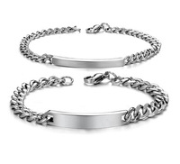 Wholesale bangle fashion Handmade Jewelry stainless steel couple Bracelet free shipping has male and female