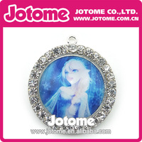 Hot Sale! ! ! Frozen Elsa New Style Fashion Necklace Rhinestone Pendant 2014 By DHL Free Shipping