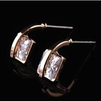 Austria Zircon crystal Female wedding High quality Stud earrings 2014 new jewellery B376