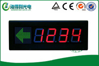 4 inch 7 segment Red color LED advertising board/LED display with bracket /LED Reception display /led standing display