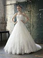 New High Quality Strapless Princess Sweet Organza Wedding Dress Bridal Gown Free Shipping Custom Size