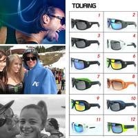100% New Hot Optic Touring  Spectra Sunglasses- Fashion Outdoor Sports OverSized Women's Men's Solar Shied-UV400 Fash Shipping