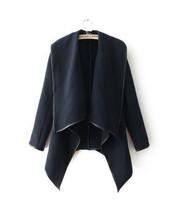 Free Shipping 2014 winter woolen overcoat women fashion trench woolen coat  Large lapel