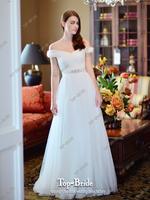 Big Sale Elegant Wedding Dress With Crystal Belt