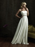 2014 New Soft Satin Wedding Dress with Crystal Bridal Gown Us Size : 4 6 8 10 12 14 16 18 20 +++++