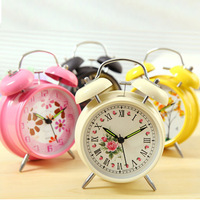 2014 Fashion High Quality Metal Alarm Clock With Ultra-quite Travel Time For Kids,Lovely Clock For Students With Luminous
