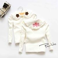 New 2014 Autumn Korean Children's Clothing Little Butterfly Collar Long-Sleeved Children Outerwear