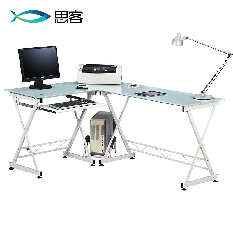 Best off modern minimalist glass desk ikea home office computer desk corner desk - Ikea glass office desk ...