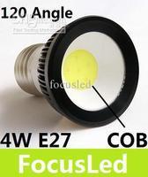 Wholesale - 2013 Newest COB E27 4W 450 LM Led Spot Light Bulb High Power Led Lamp Warm/Cool White 110-240V