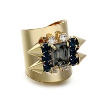 new items Hot Vintage hollywood rhinestone rivet ring female punk decoration bijouterie brand jewelry wholesale