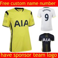 Soccer jersey 2015 camiseta shirt white jersey football shrit   black jersey Thailand Quality