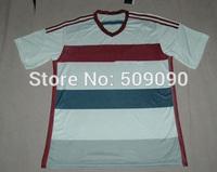 2015 A+++ BayerNunich Away Adult Embroidery White Soccer Jersey/ Uniform Sports Clothing BayerNunich KitsShirt + Shorts