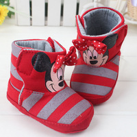 Soft Bottom Anti-slip Keep Warm Newborn Baby Girl Snow Boots Minnier Toddler Shoes First Walkers 3pairs/lot Free Shipping