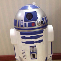 New 2014 fashion grade home hotels essential plastics garbage trash can star wars R2D2 robot wastepaper waster barrels Lixeira