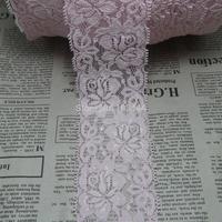 Promotion 20 yards/lot 52mm width pink Elastic Stretch Lace trim DIY headband sewing/garment accessories