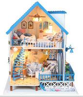 Christmas gift Attachment Aegean diy handmade wooden hut assembled model novelty creative birthday gift