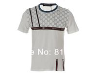 2014 New Brand charismatic men t shirt ,Luxury tee shirt Fashion casual short sleeve ,Size M-4XL +Free shipping