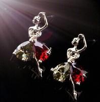 The ballet girl zircon Stud Earrings supernova sales 2014 new B383
