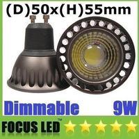 Wholesale - 55mm Height 9W GU10 E27 E26 MR16 Led COB Bulbs Light AC 110-240V/12V Dimmable Warm/Cool White Led Spotlights 60 Angl