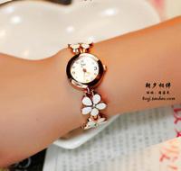 Free shipping Watches women fashion watch flower white wristwatches beautiful bracelet watch women ladies luxury