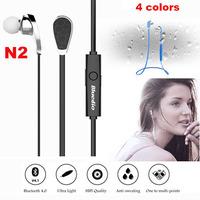 Bluedio N2 Bluetooth V4.1 IEarphone HIF In Ear Earbud Headphone Wireless Sports Stereo Headset Sweat Proof Muti-point Connection
