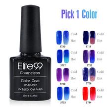 Elite99 2014 Professional Chameleon Color Changing Temperature Change Pedicure UV LED Gel Nail Polish 10ml 5708(China (Mainland))
