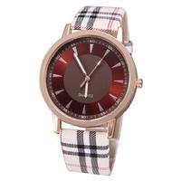 Dropship wholesale relogio pu leather straps watches women unisex rose gold plated clock roman number fashion men quartz watches