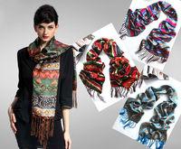 [Silk Tassel Scarf]55cm*160cm Long Scarves/100% Natural Silk Charmeuse/2014 New Desigual Autumn & Winter Scarf