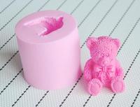 2014 Rushed Teddy Bear silicone mold,Fondant Cake Decorating Tools,Silicone Soap Mold,Silicone Cake Mold