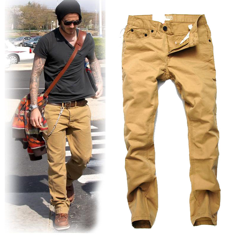 Khaki Cargo Pants Men Trousers Cargo Pants Khaki