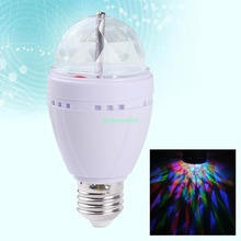 EB3625 FULL COLOR MINI AUTO ROTATING LAMP RGB LED DJ STAGE LIGHTING E27 BULB 85-260V(China (Mainland))