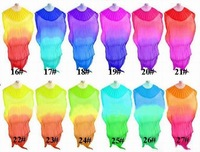 Free shipping 50pcs/lot assorted colors belly silk dance fan veils