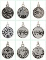 ( can mix)2014  10PCs Alex and Ani  Silver Alloy Charm Pendant Jewelry Finding  (AAC)