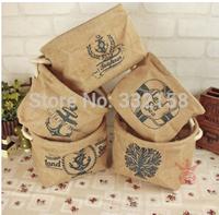 free  shipping Multifunction picnic basket cotton rope hanging storage  bucket pot