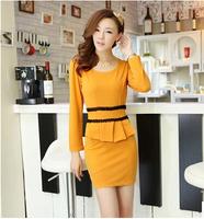 2014 New In Fashion Women's Dresses Spring and Autumn Elegant OL Long-sleeve Female Dress