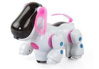 Free shipping Electric robot dog electronic pet dog toys music shine pet Music Lights Walking Puppy Toys