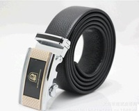 The first layer of leather belt belt wholesale The first layer leather belt Men's automatic buckle belt