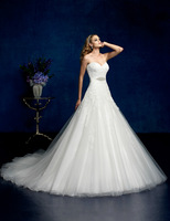 New Organza Sweetheart Strapless A-Line Wedding Dresses Us Size:4 6 8 10 12 14 16 18 20++