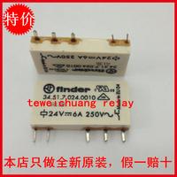 Original finder relay 34.51.7.024 . 0010 24v 6a 250v 5
